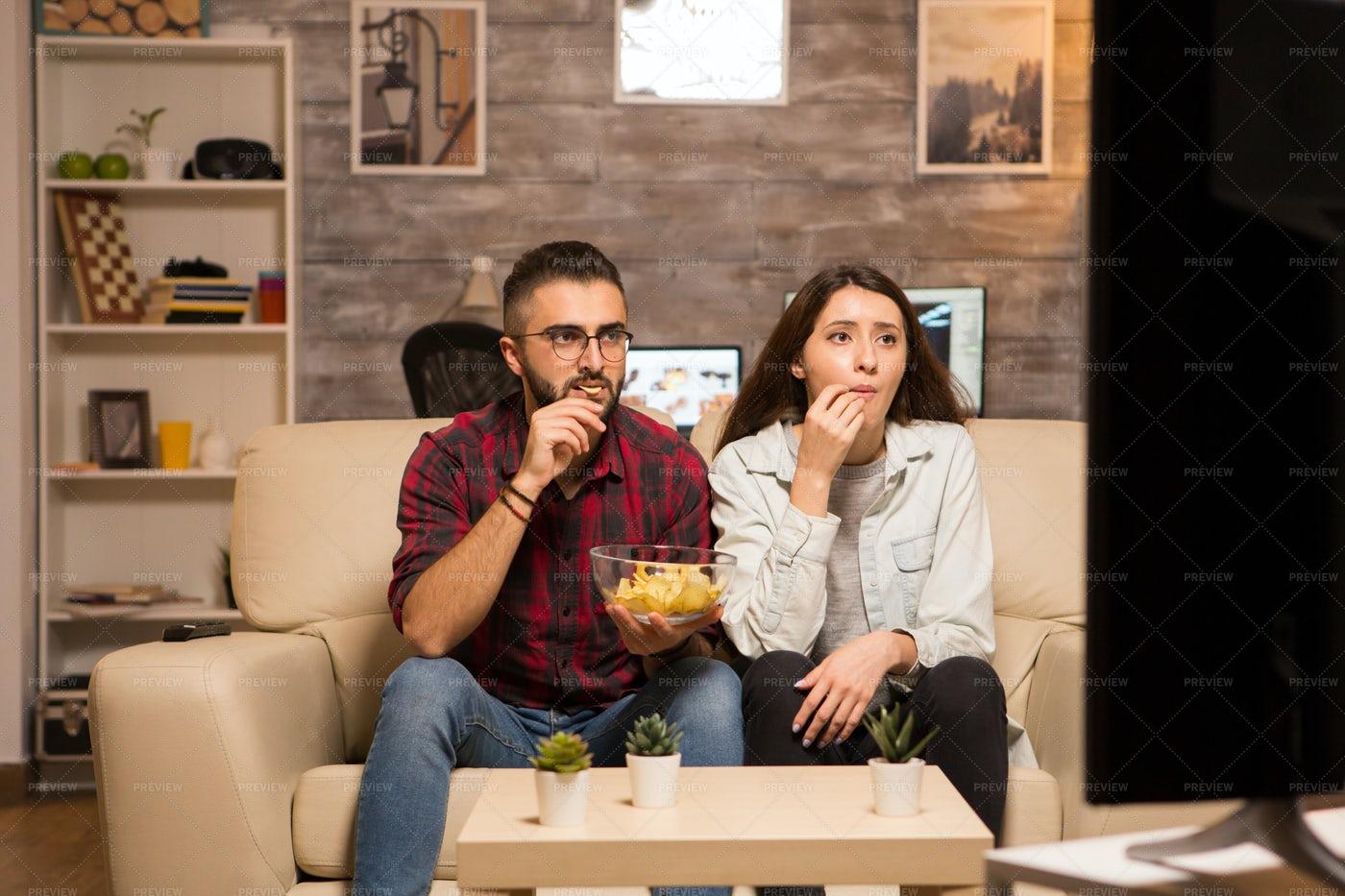 Couple Watching Movie: Stock Photos