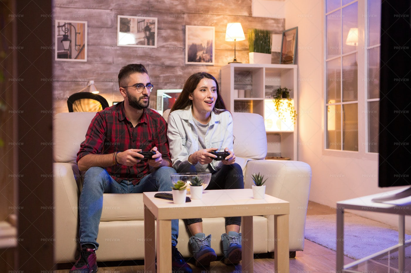 Game Night At Home: Stock Photos