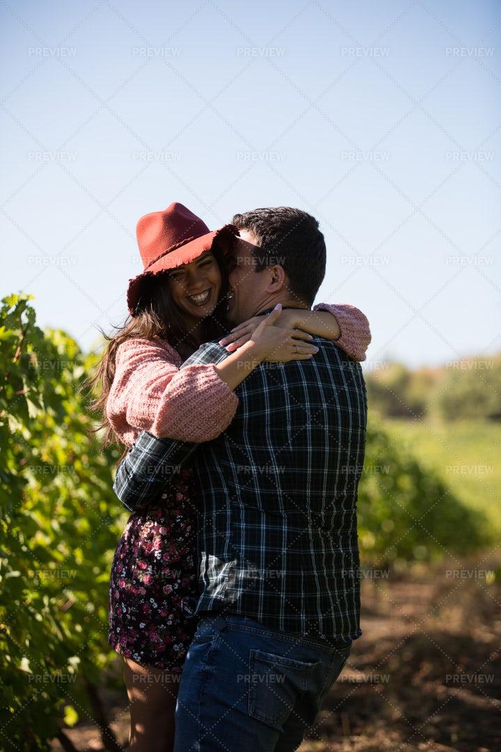 Happy Vineyard Couple: Stock Photos