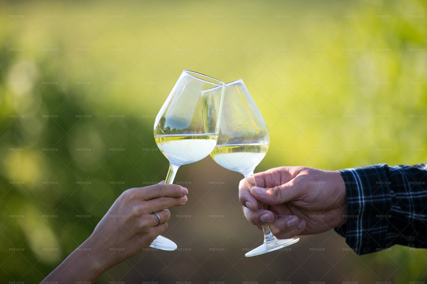 Wineglasses Against Each Other: Stock Photos