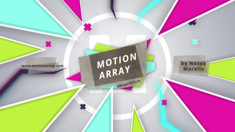 Glitch Paper Logo: After Effects Templates