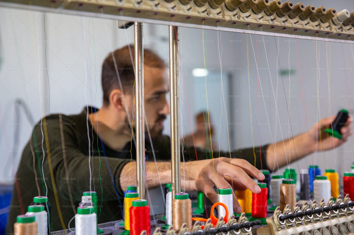 Employee At A Textile Factory: Stock Photos