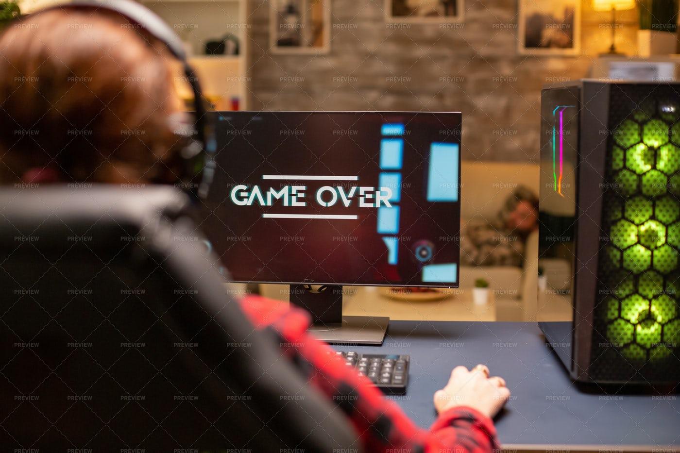 Gamer Loses: Stock Photos