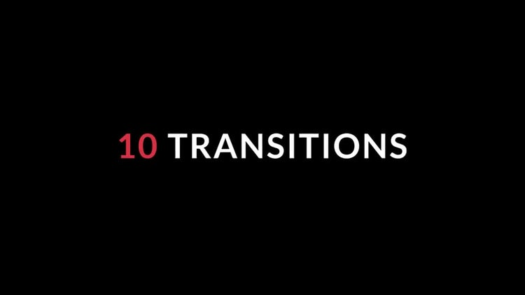 10 Quick Transitions: Premiere Pro Templates