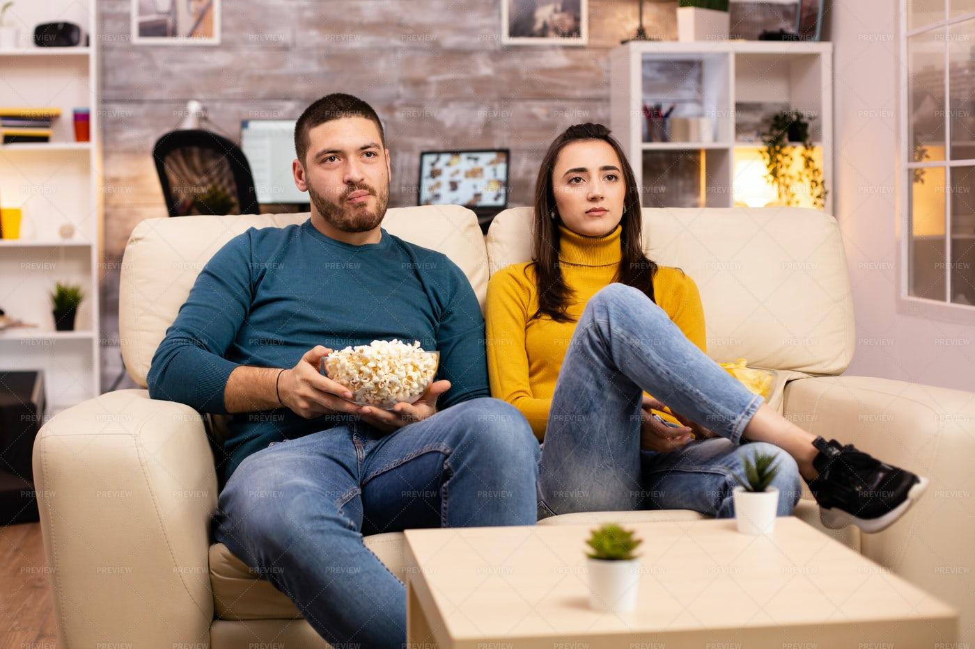 Popcorn And A Movie: Stock Photos