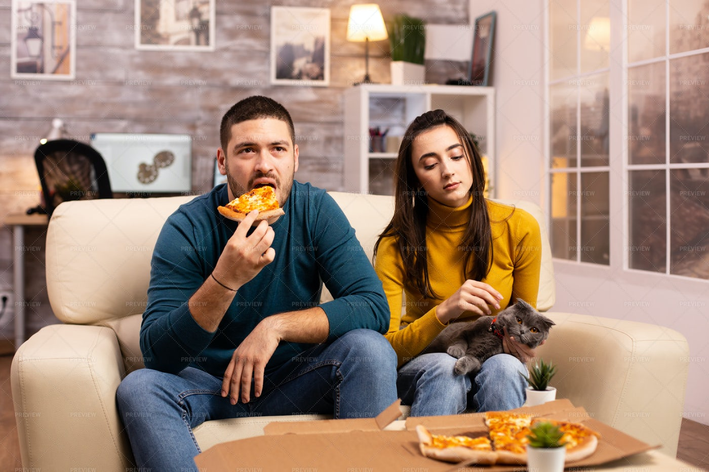 Pizza At Home: Stock Photos