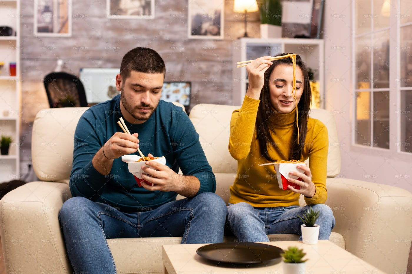Fun And Chinese Food: Stock Photos
