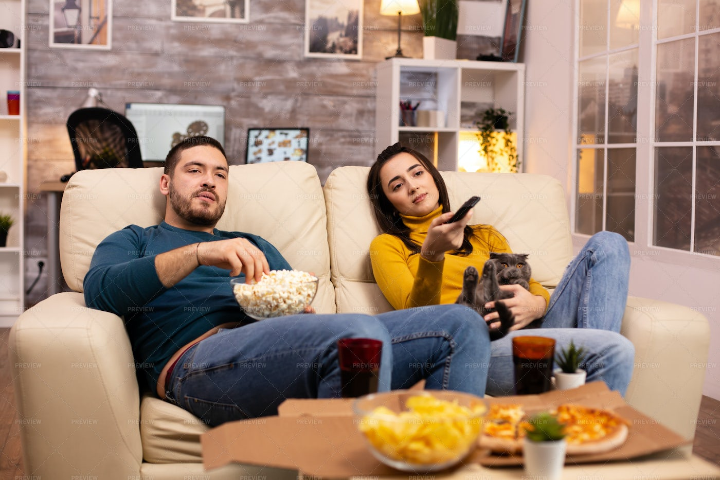 Bored And Lazy Couple: Stock Photos
