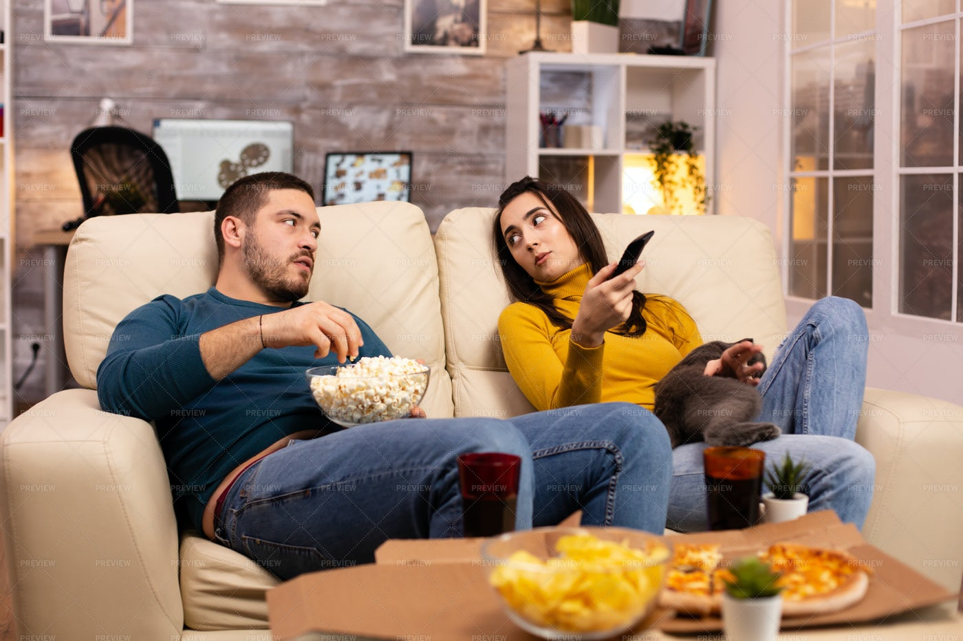Deciding What To Watch: Stock Photos