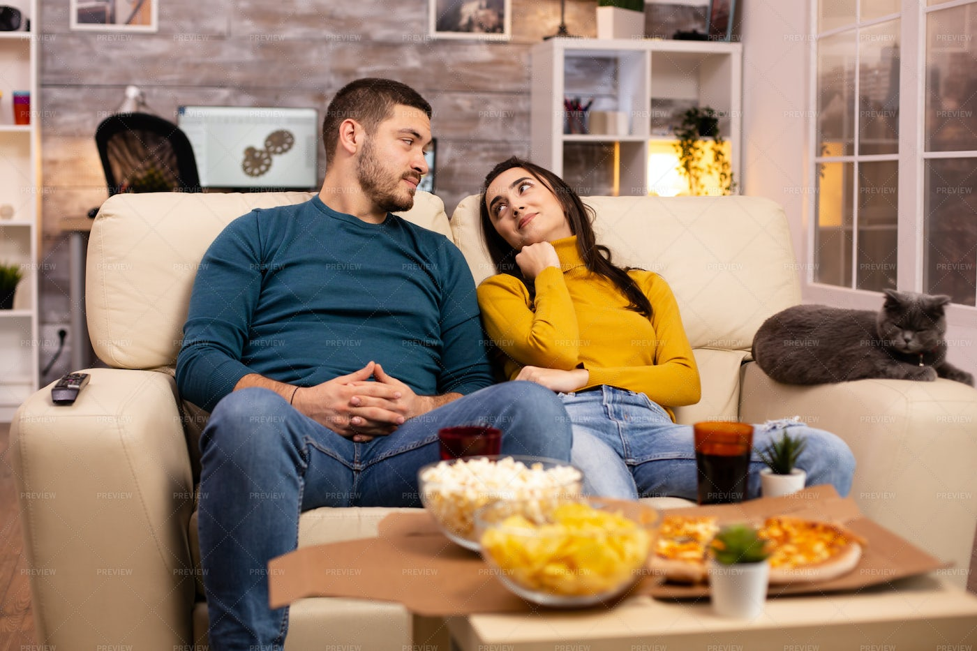 Couple Staring At Each Other: Stock Photos