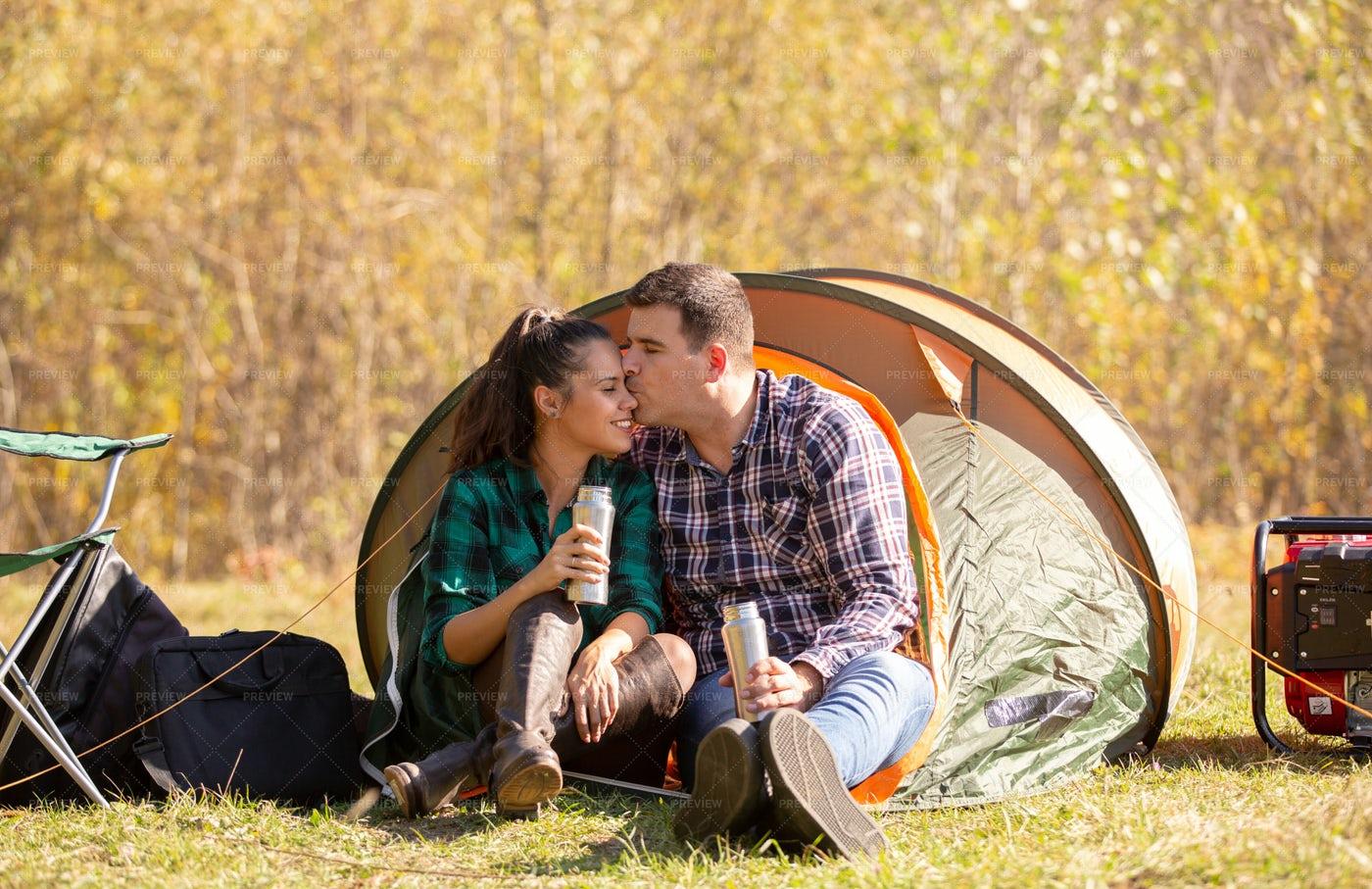 Man Kisses Wife: Stock Photos