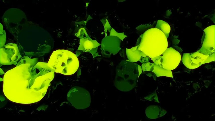 Glowing Skulls Loop Pack: Motion Graphics