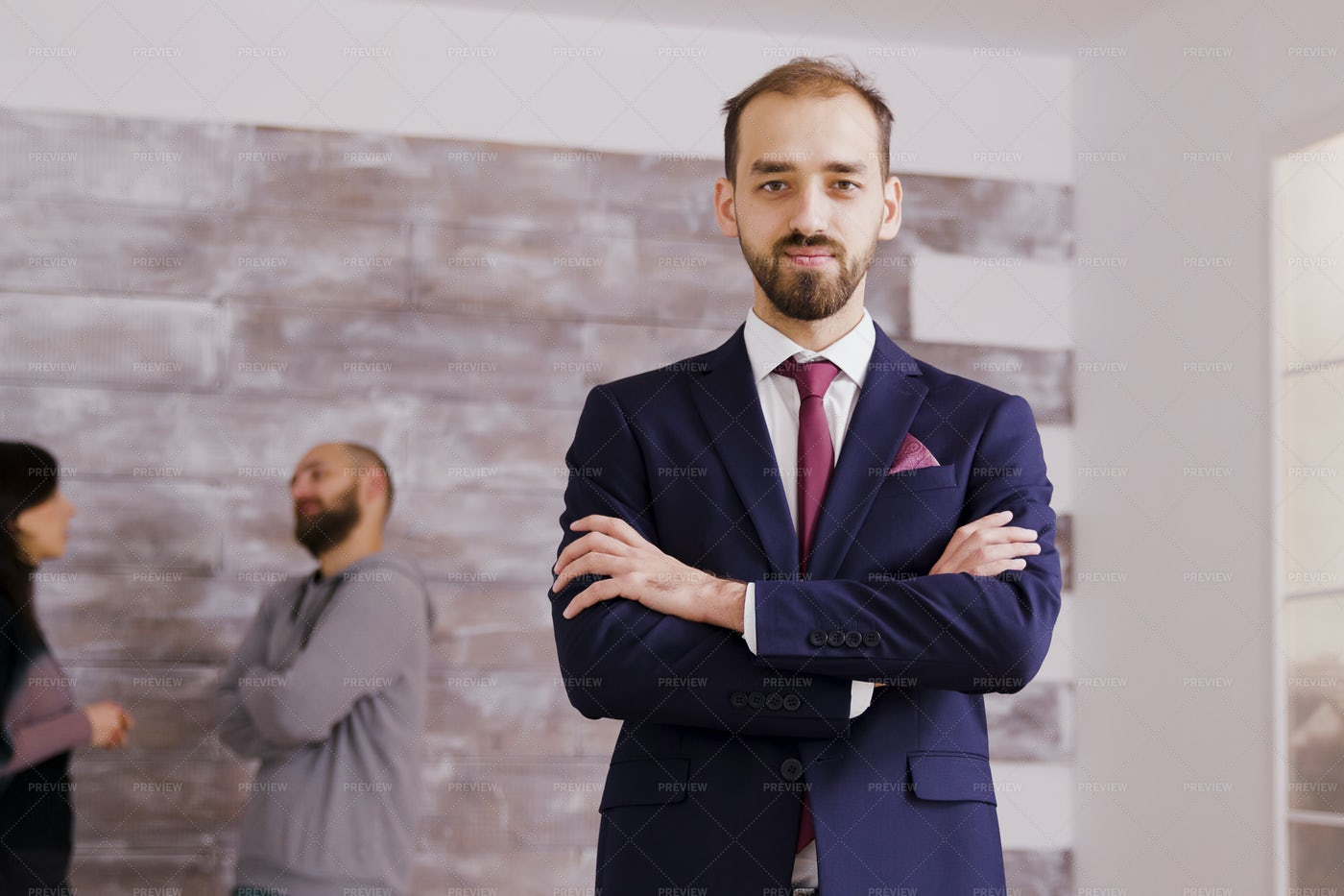 Real Estate Agent In Business Suit: Stock Photos