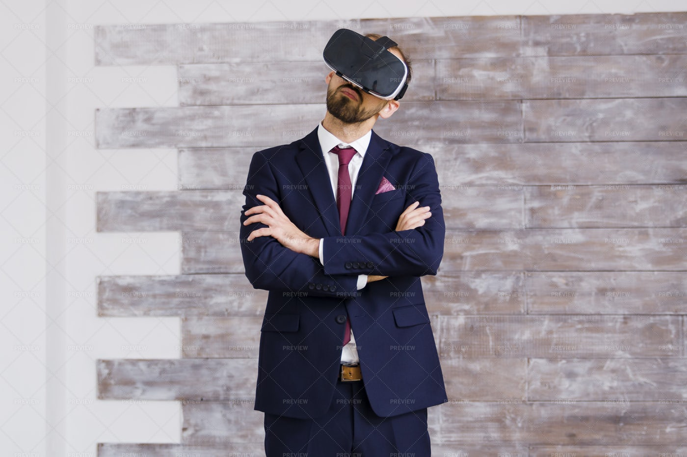 Business Suit And VR Goggles: Stock Photos