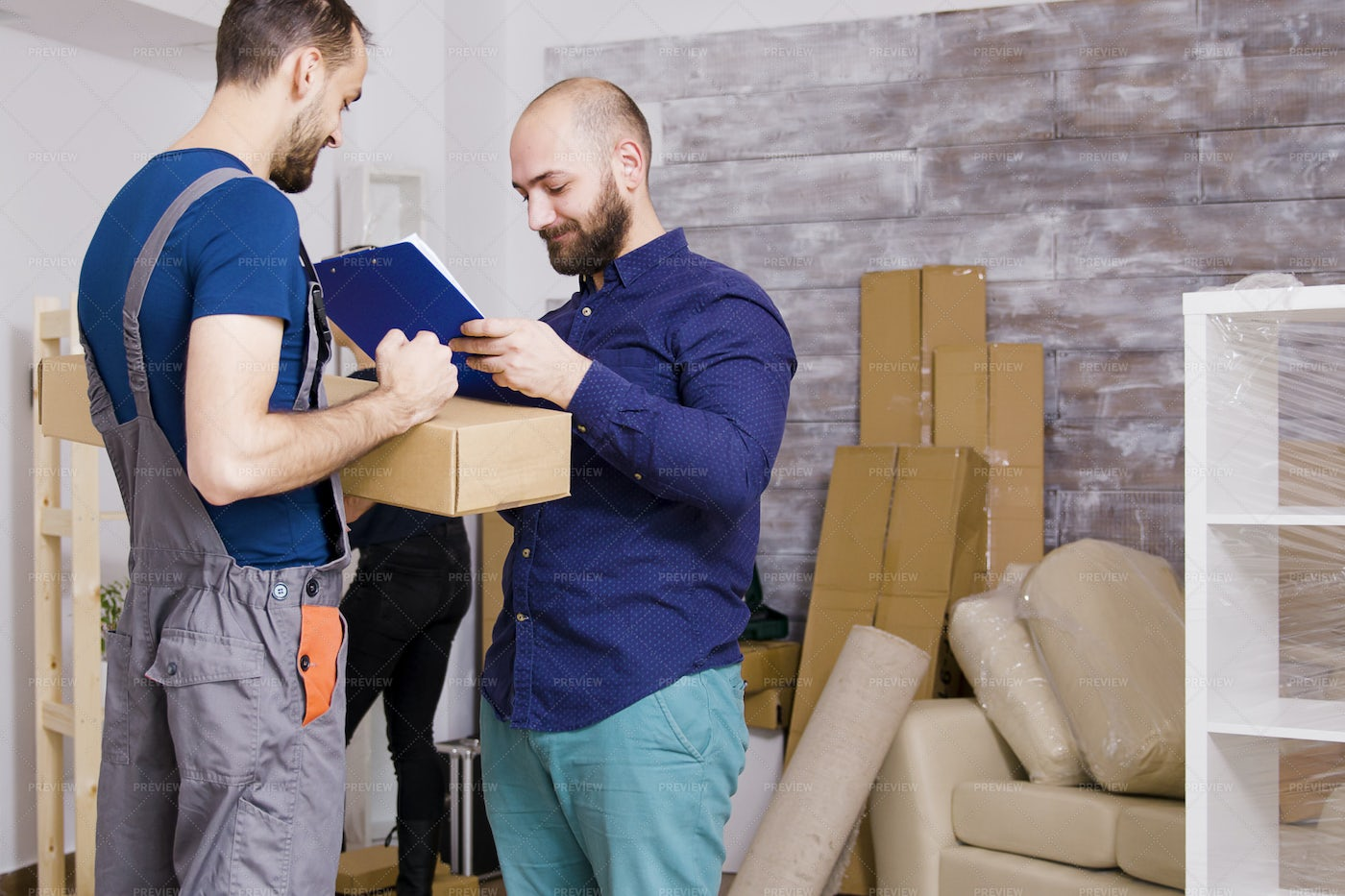 Delivery Service Man: Stock Photos