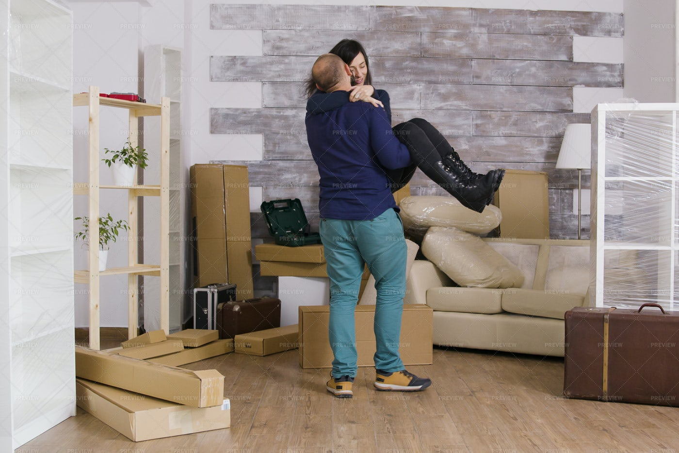 Excited Home Owners: Stock Photos