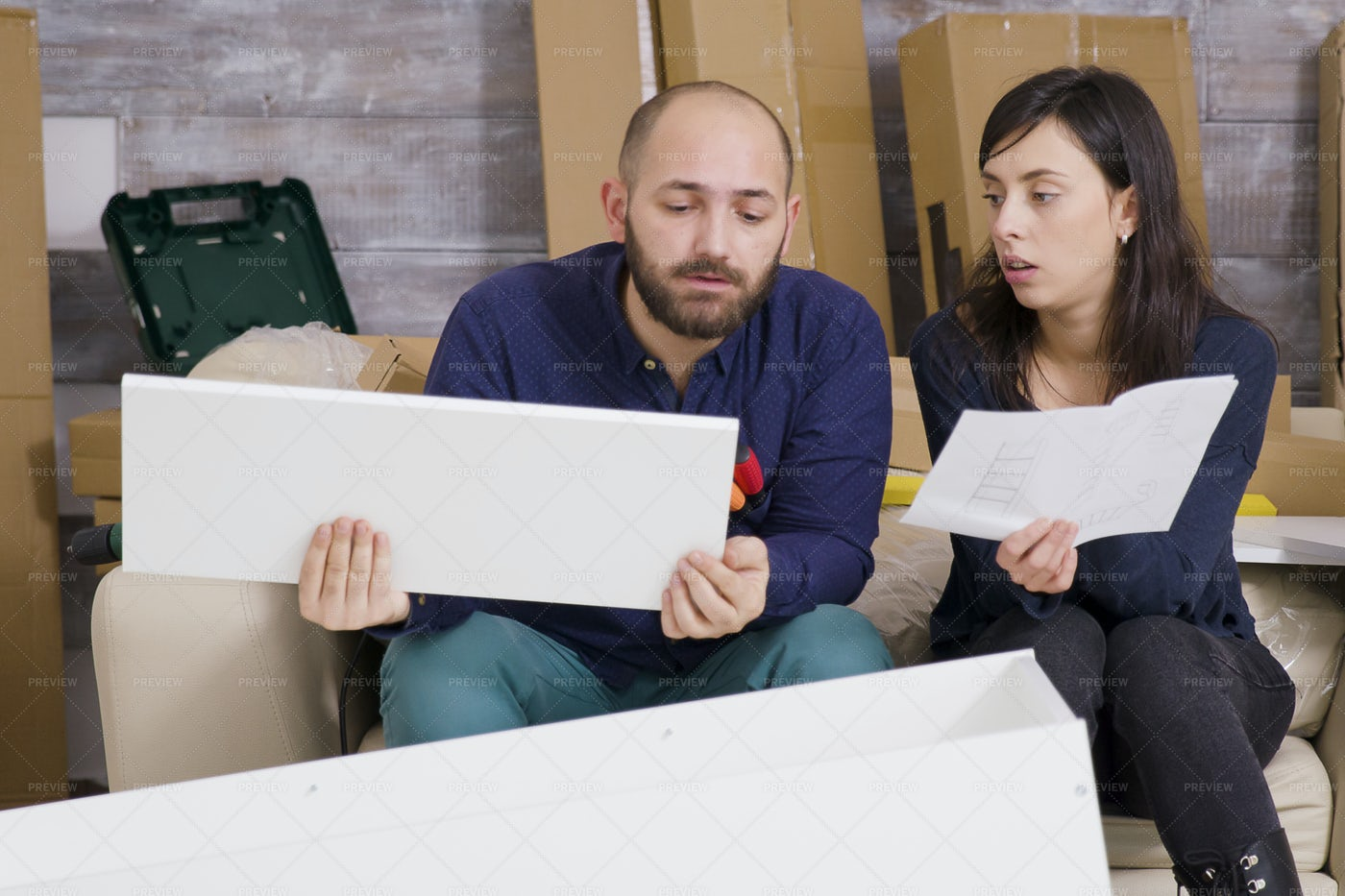 Assembling New Furniture: Stock Photos