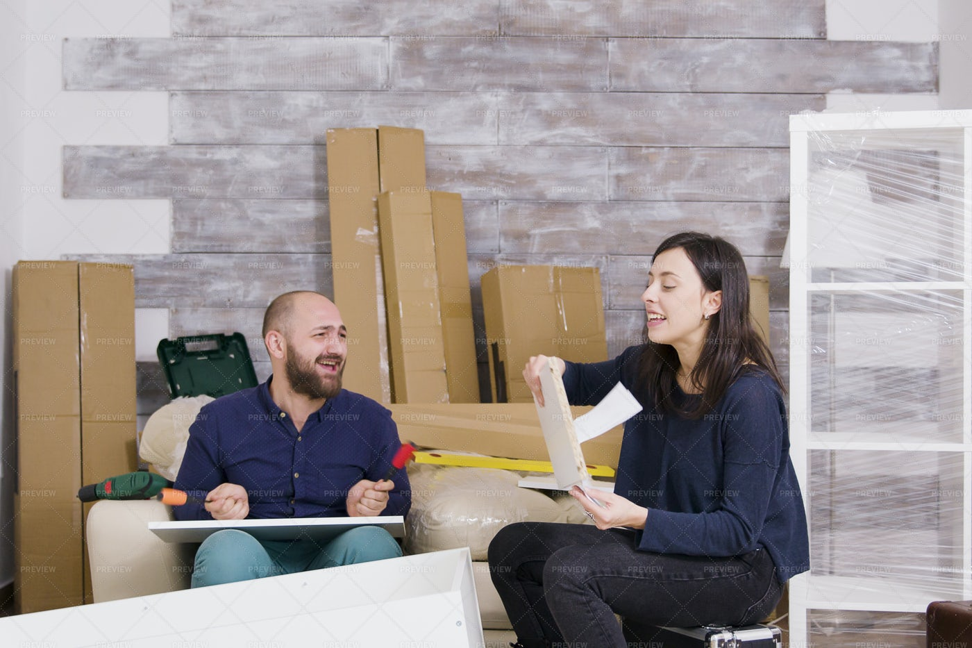 Young Couple Laughing: Stock Photos