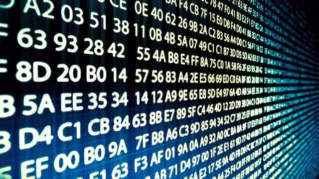 Computer codes. Abstract.: Stock Motion Graphics
