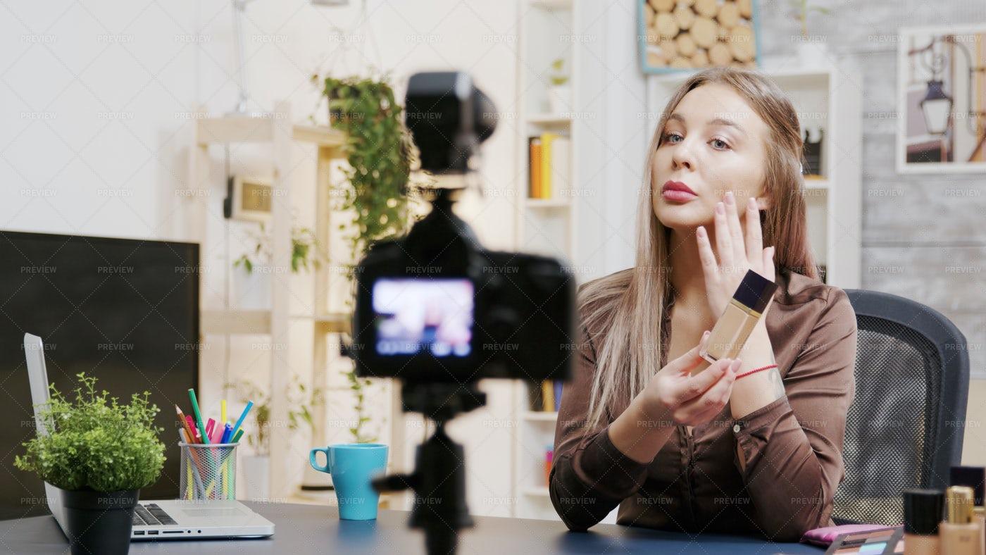 Beauty Vlogger Recording: Stock Photos