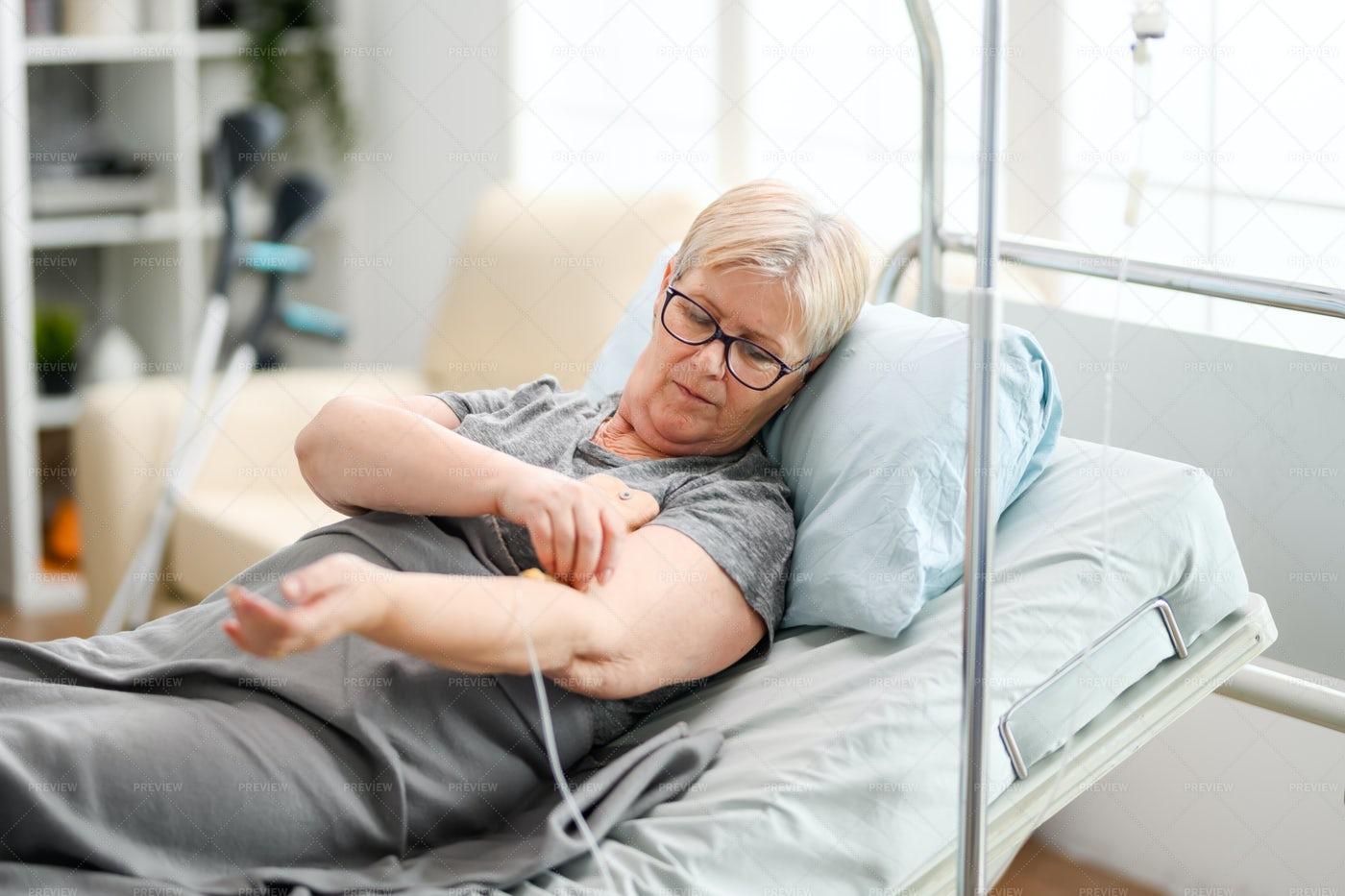 Female In A Nursing Home: Stock Photos