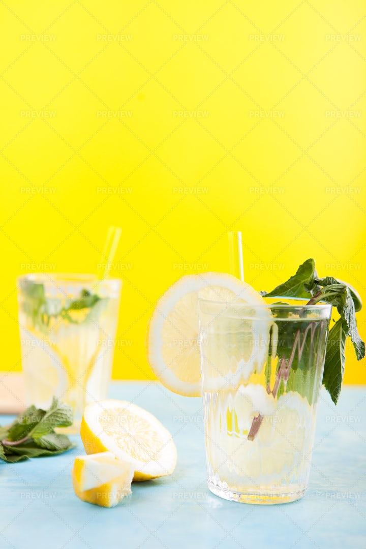 Homemade Detox Water: Stock Photos