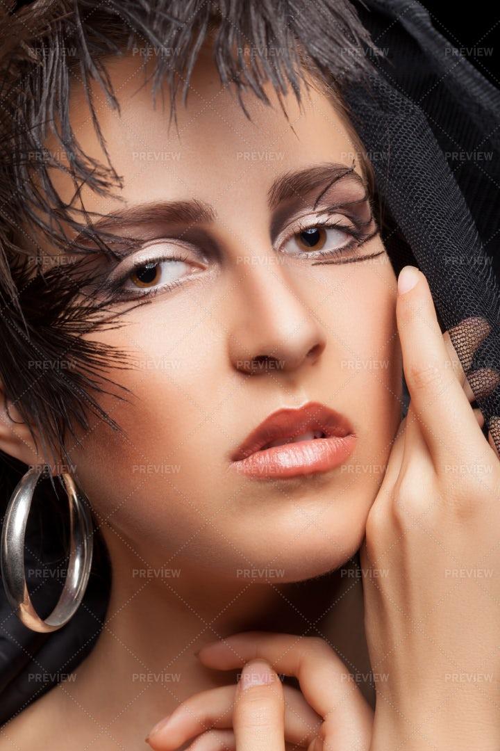 High Fashion Style Makeup: Stock Photos