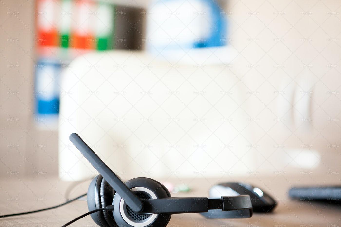 Office Headset: Stock Photos