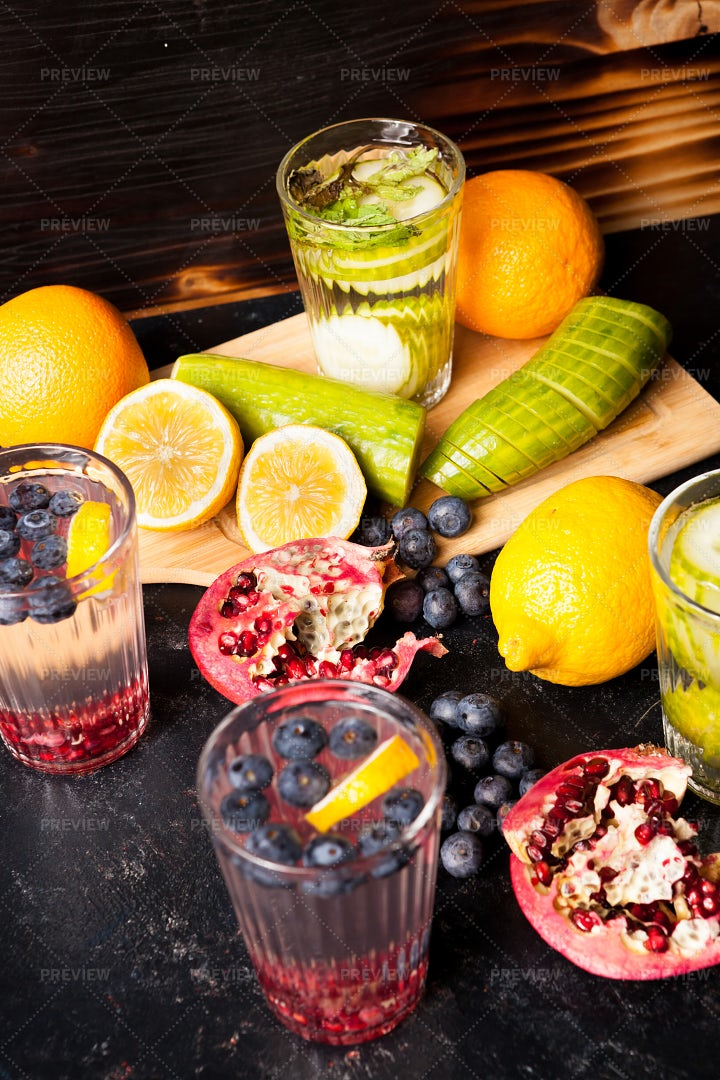 Infused Fruit Water: Stock Photos