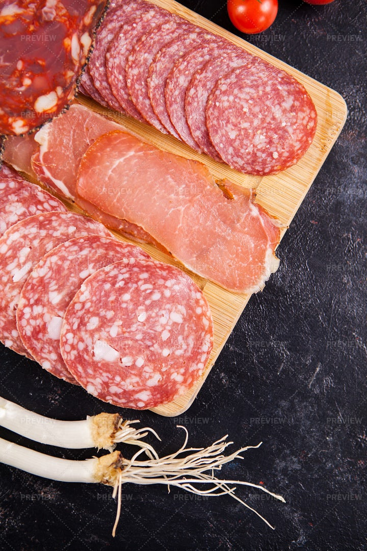 Delicious Healthy Meat Appetizers: Stock Photos