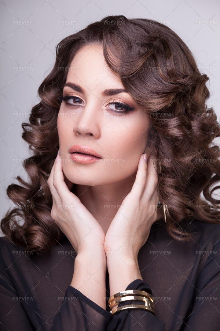 Bronze Eyeshadow: Stock Photos