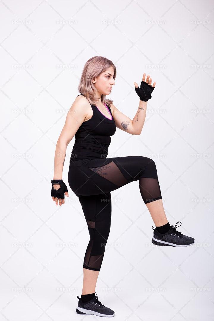 Exercising On White Background: Stock Photos