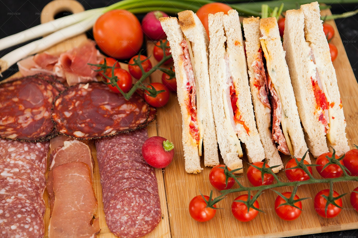 Smoked Meat Sandwiches: Stock Photos