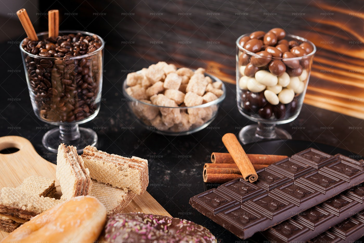 Sweets On A Table: Stock Photos