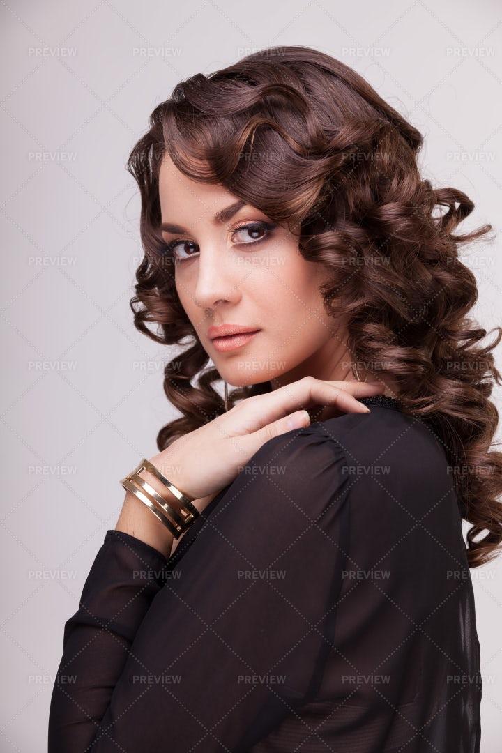 Bronze Makeup: Stock Photos
