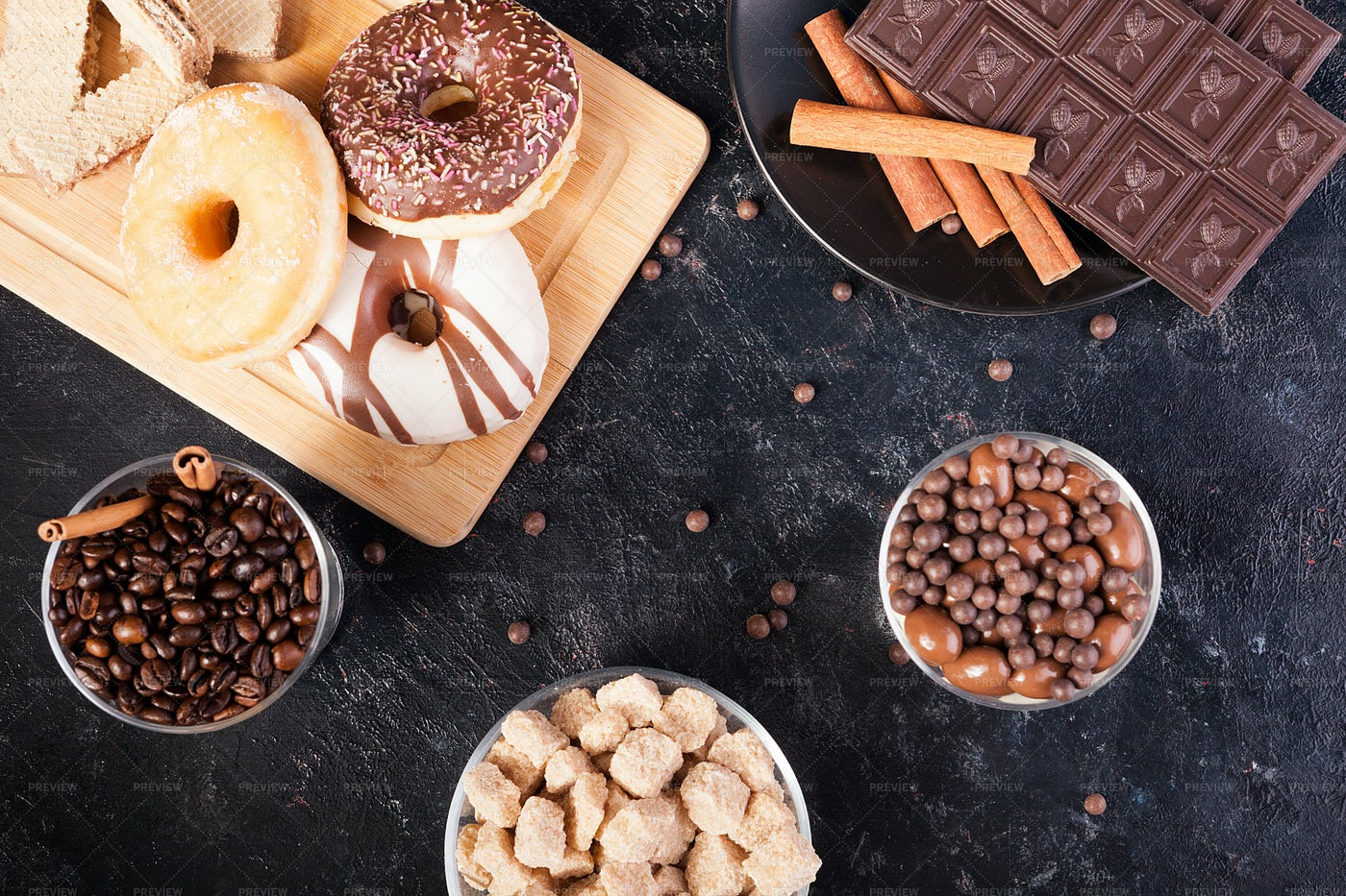 Different Types Of Sweets: Stock Photos