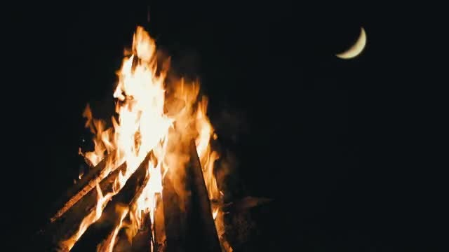Camp Fire: Stock Video