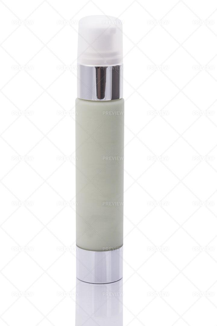 Green Cosmetic Bottle: Stock Photos
