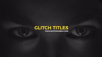 Modern Glitch Titles: Motion Graphics Templates