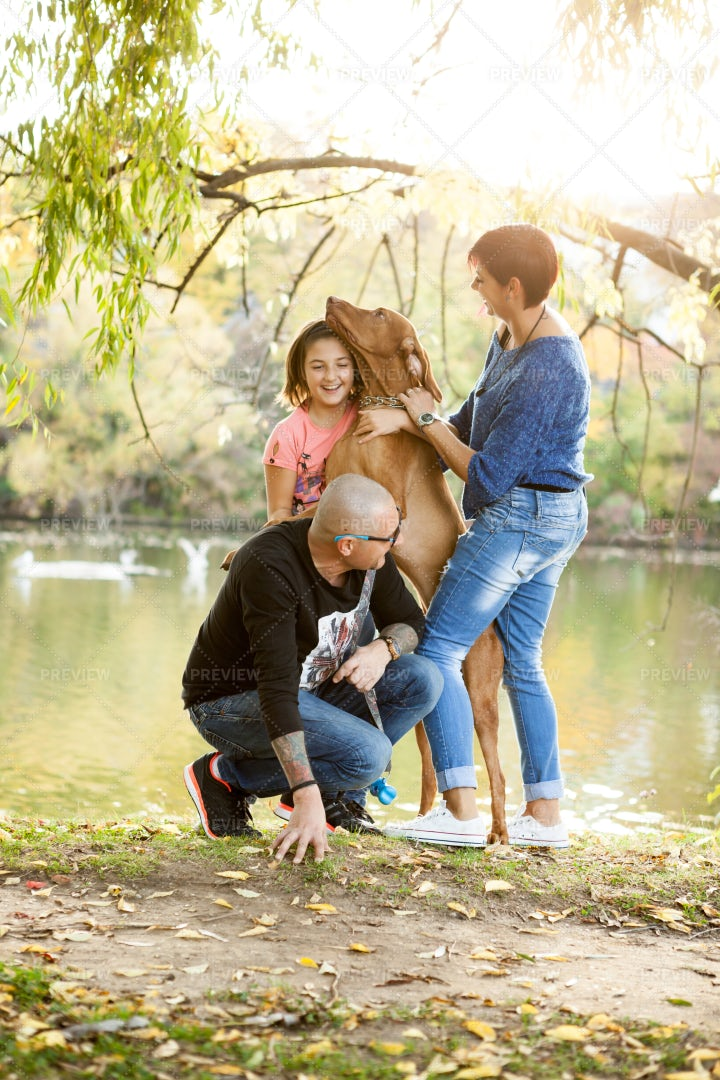 Happy Family AT The Park: Stock Photos