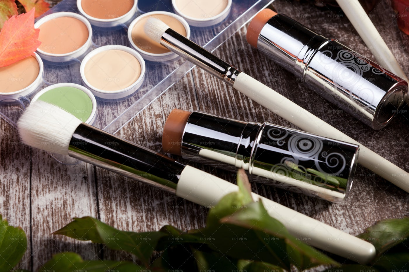 Professional Cosmetic Products: Stock Photos