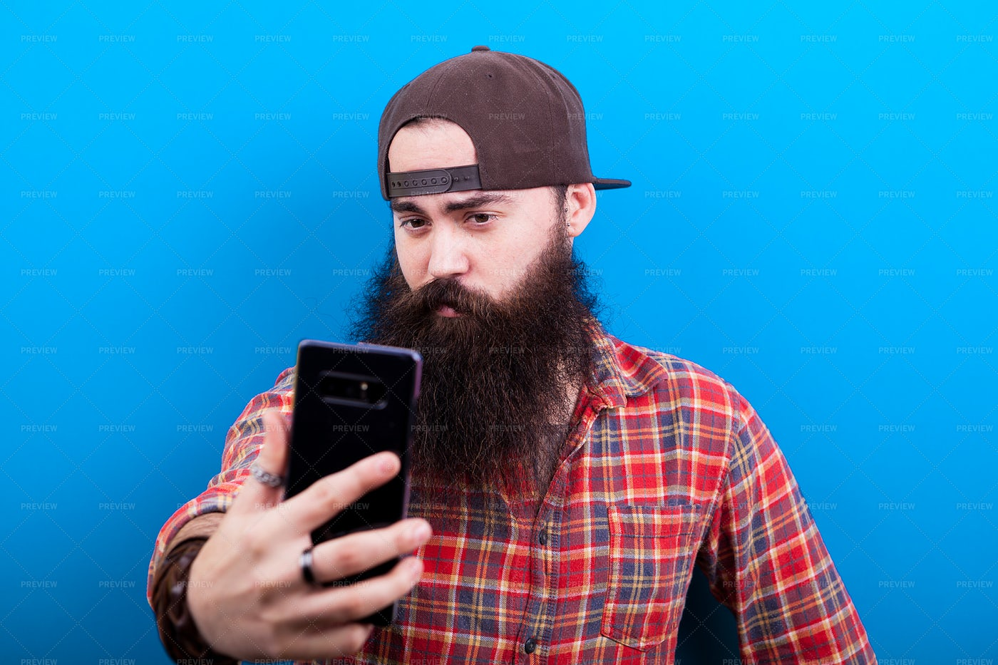 Isolated Man Taking A Selfie: Stock Photos