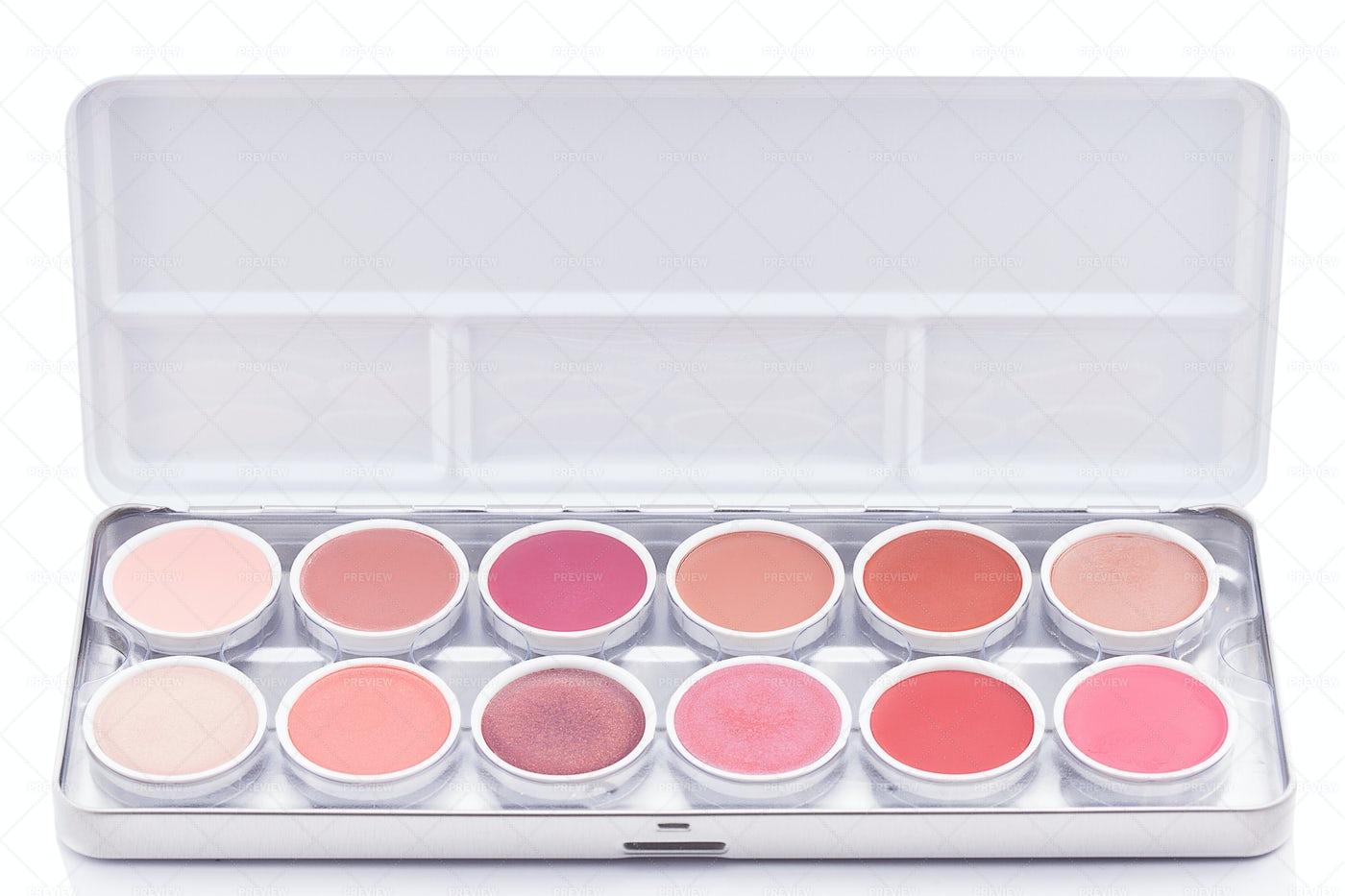 Pink Eyeshadow Palette: Stock Photos