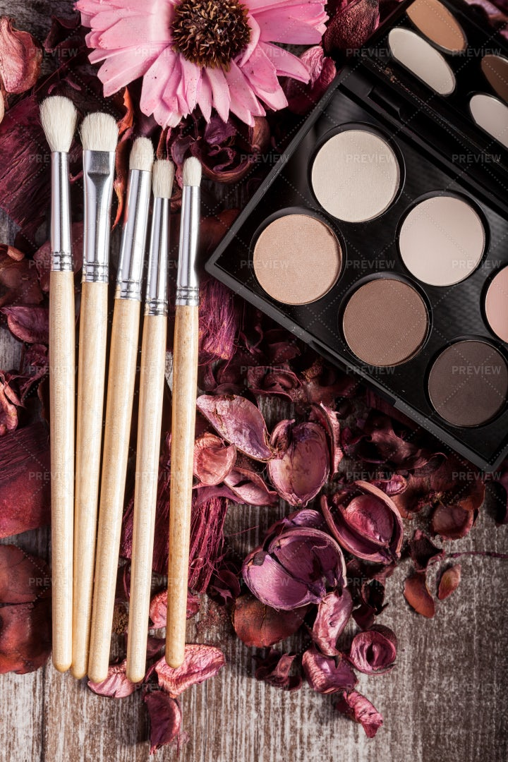 Professional Cosmetics Makeup Products: Stock Photos