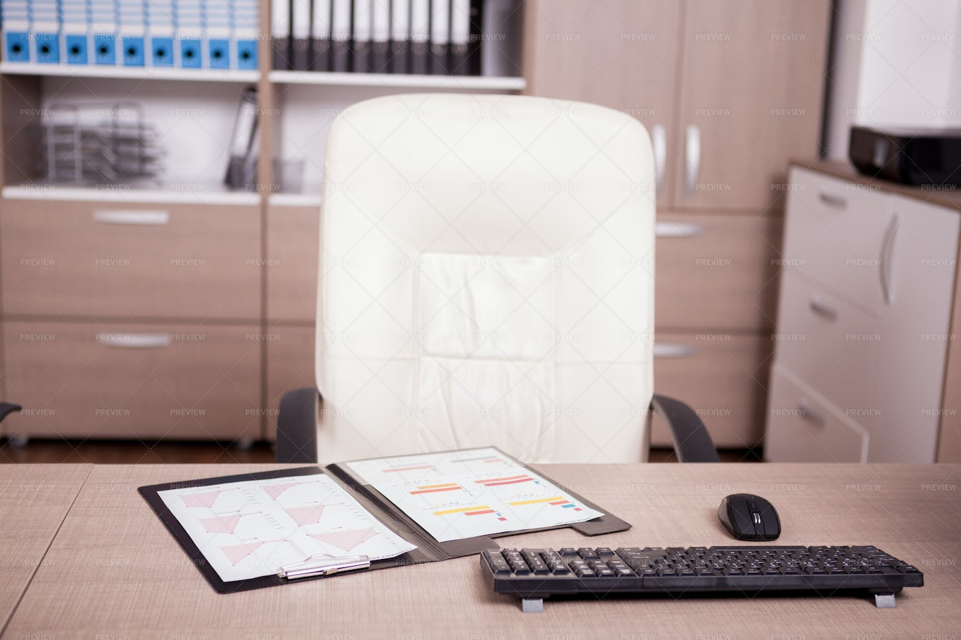 Charts Of Business On Office: Stock Photos