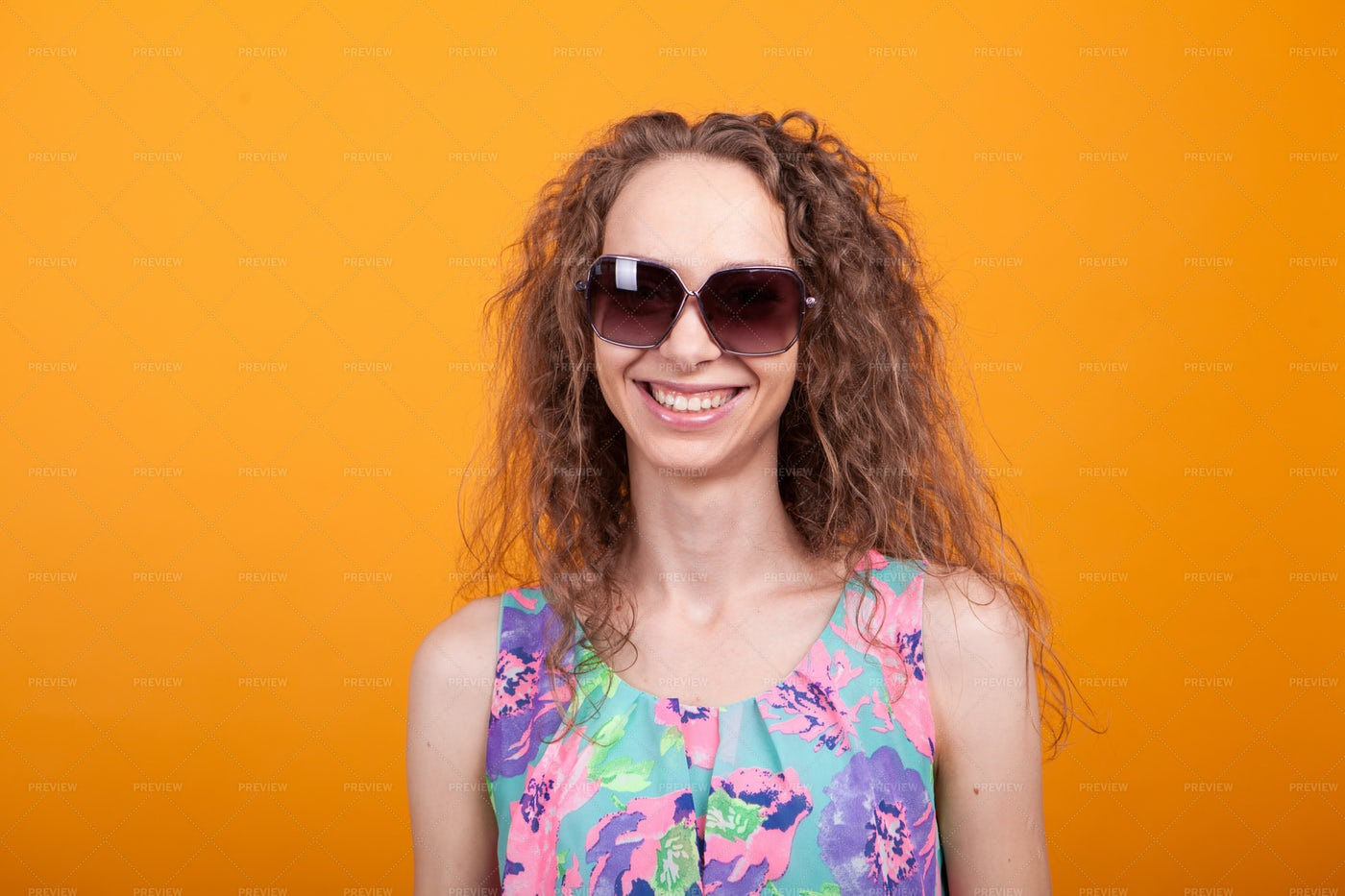 Woman In Sunglasses Smiling: Stock Photos