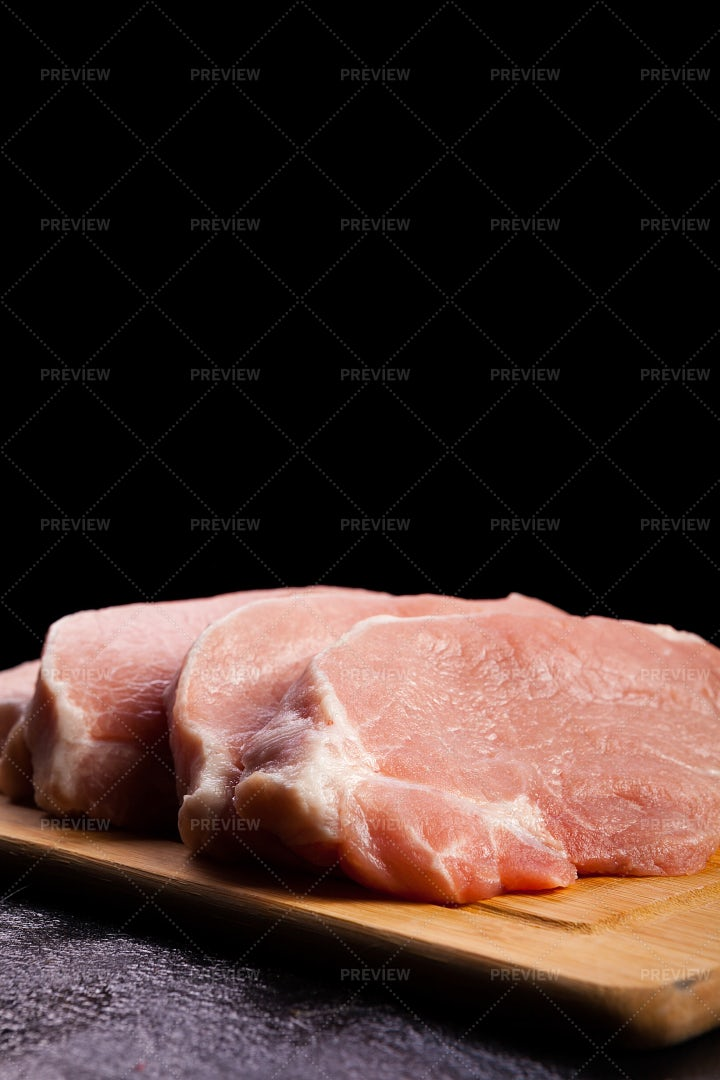 Cuts Of Raw Meat: Stock Photos