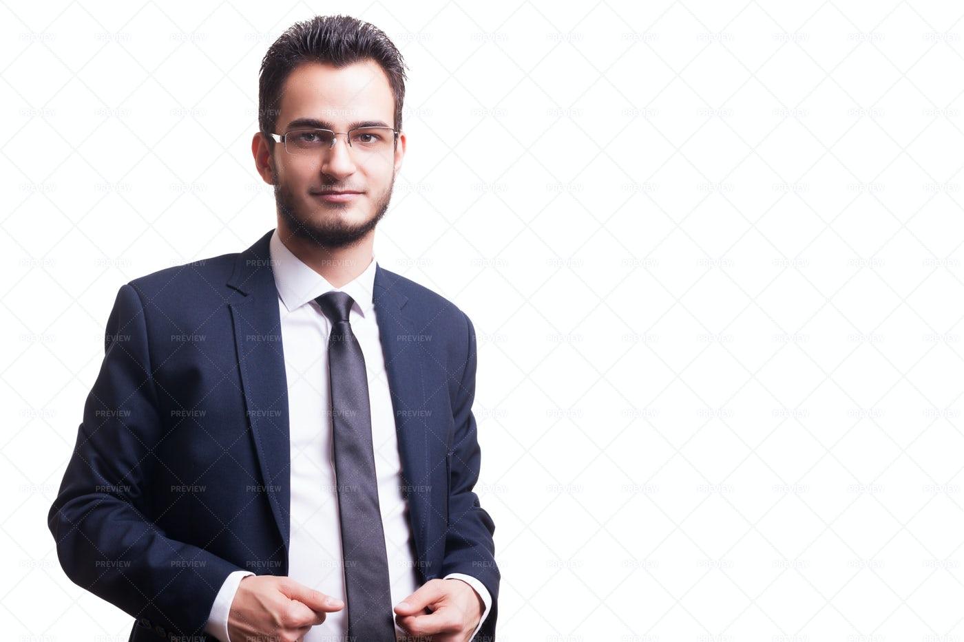 Businessman In Blue Suit: Stock Photos