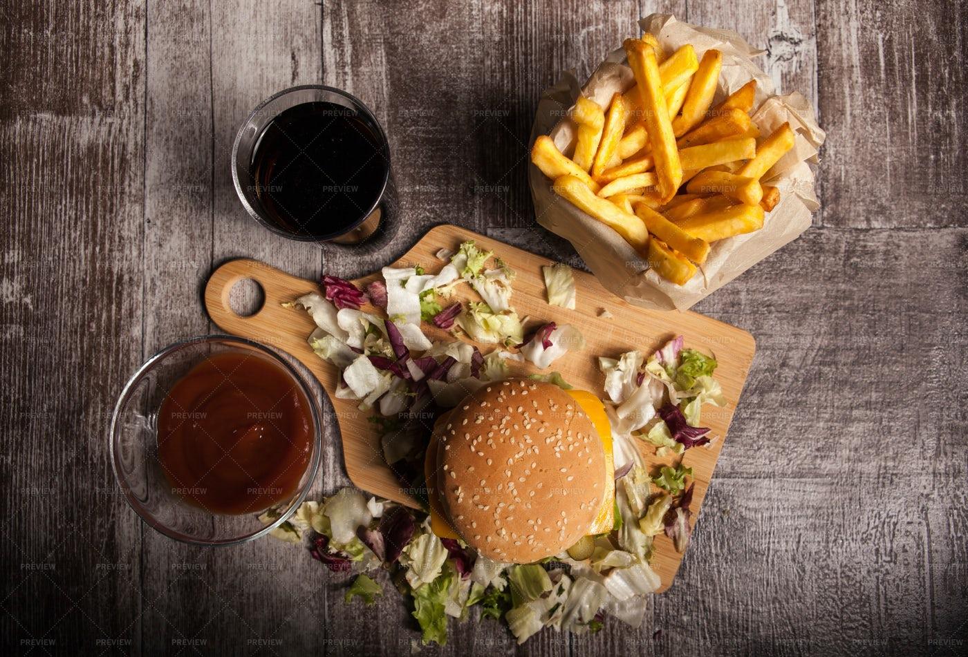 Burger Meal: Stock Photos