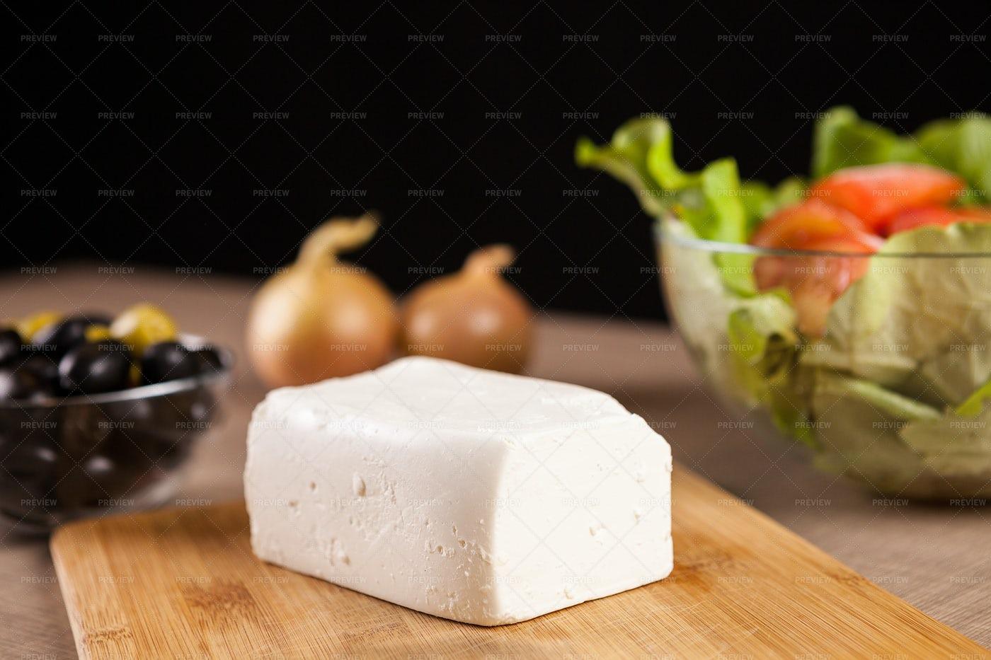 Feta Cheese And Salad: Stock Photos
